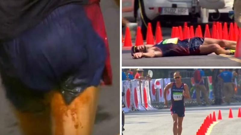 Yohann Diniz poos himself during race and faints but carries on