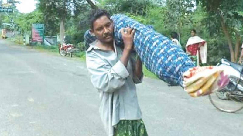 Widower forced to carry wife's dead body 6 miles home