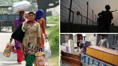 Indian Army evacuated villagers in the Jammu and Kashmir's Samba region, with thousands of people being relocated to a safer place in the event of possible retaliatory attacks from across the border.