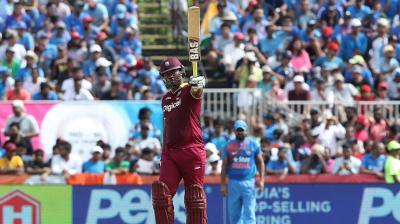 Johnson Charles bulldozed Indian attack to score 79 runs off 33 balls. (Photo: BCCI)