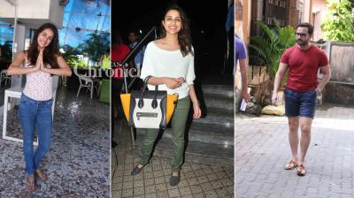 Bollywood celebrities like Saif Ali Khan, Parineeti Chopra, Disha Patani, Jacqueline Fernandez, Jaya Bachchan were snapped by photographers on Monday. (Photo: Viral Bhayani)