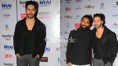 Varun Dhawan was present at an event where several other celebrities like Anu Malik, Dino Morea, Purab Kohli were also present. (Photo: Viral Bhayani)