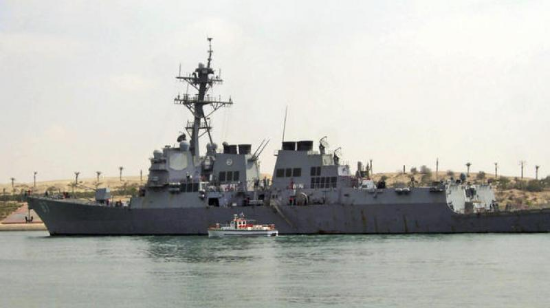 USA says missiles launched against destroyer in Red Sea