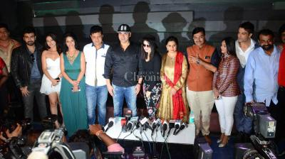 Sunny Leone spotted at the mahurat of her next Tera Intezaar opposite Arbaaz Khan, Arya Babbar and Salil Ankola.