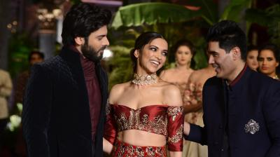 With lady of the moment Deepika Padukone and Bollywood's hottest import Fawad Khan on the ramp, ace designer Manish Malhotra weaved a Persia-inspired collection at the opening of India Couture Week 2016. Photo: Viral Bhayani