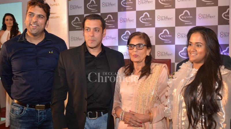 On Friday, Salman Khan announced the foray of his Being Human brand into the jewellery segment in an event held in Mumbai. (Photo: Viral Bhayani)