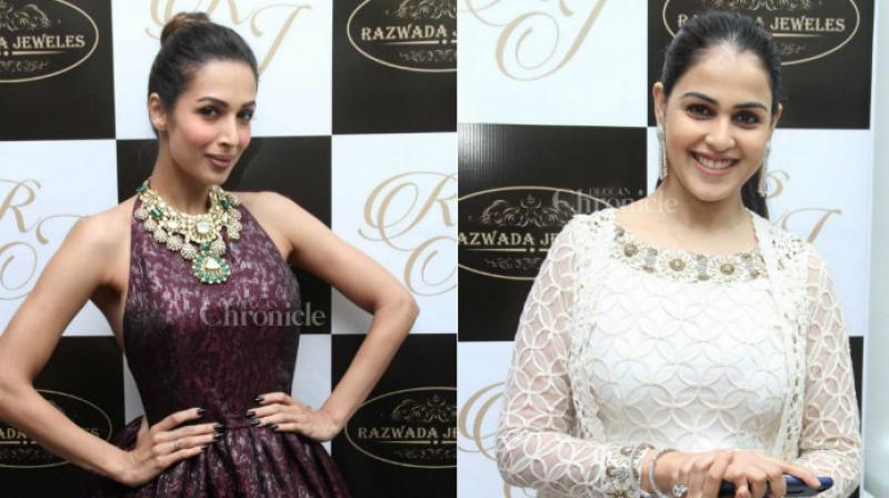 Genelia D'souza and Malaika Arora Khan spotted at the launch of a jewellery store in Mumbai.
