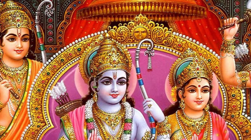 Image result for lord rama, sita and lakshmana on diwali