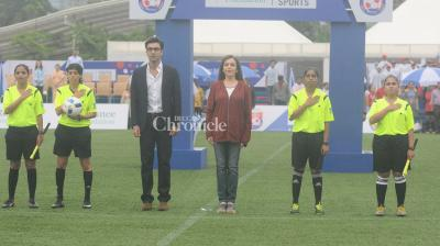 Reliance Foundation Youth Sports (RFYS), an initiative to professionalise school and college sports, was kicked off on Saturday by Mrs Nita Ambani. (Pic: Viral Bhayani)
