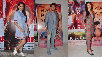 Sonakshi starrer 'Akira' has been directed by AR Murugadoss while 'Baar Baar Dekho' has been helmed by debutante director Nitya Mehra. (Pic: Viral Bhayani)