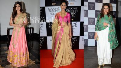 Shamita Shetty, Sarah-Jane Dias, Tisca Chopra and others attend Day 2 of the Lakme Fashion Week. (Pic: Viral Bhayani)