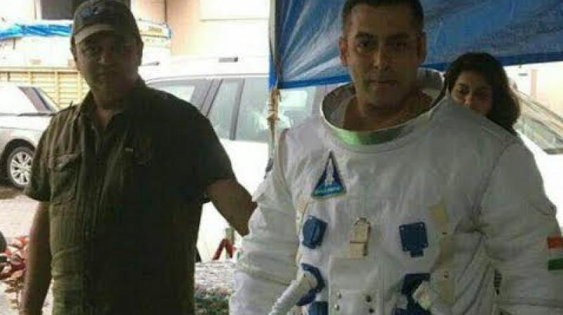 Salman Khan in an astronaut outfit for the promo shoot of 'Bigg Boss 10'.