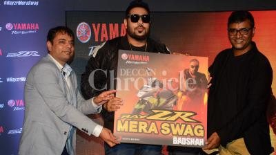 Badshah launched his new single,Ray ZR Mera Swag, at a suburban restaurant last evening. Photo: Viral Bhayani