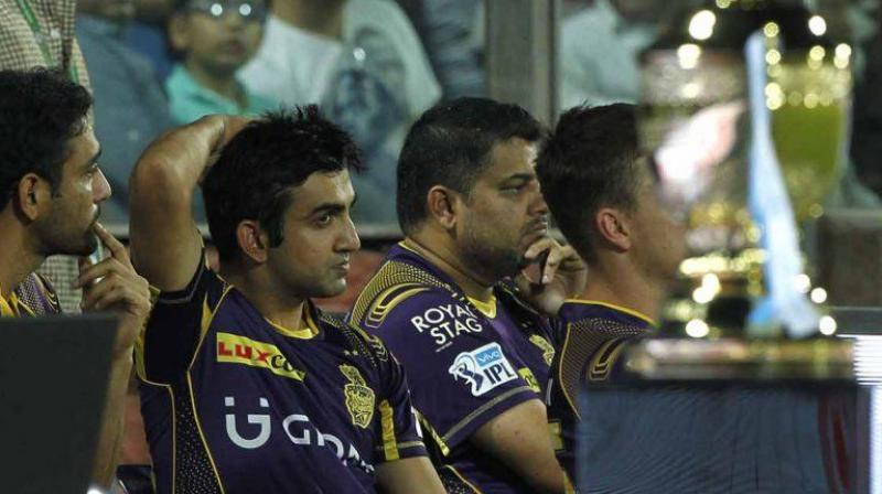 Kolkata Knight Riders (KKR) yet again slipped from the qualifying stage of IPL after losing the battle to Sunrisers Hyderabad in the Elimintor in New Delhi on Wednesday. (Photo: BCCI)