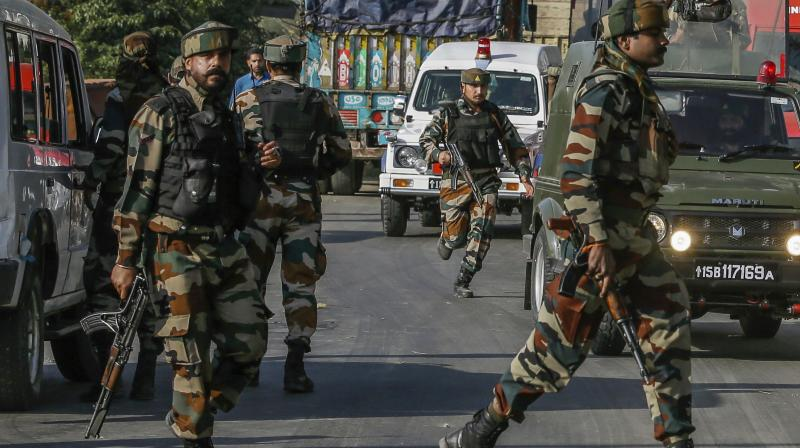 Militants on Saturday attacked an army convoy by opening fire on it at Pampore on the Srinagar-Jammu National Highway. (Photo: AP/Representational)