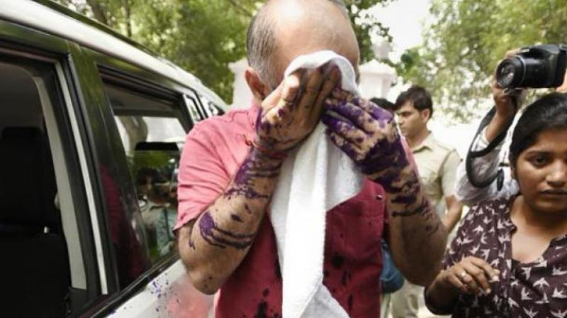 Man who threw ink at Sisodia sent to JC, moves bail plea