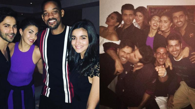 Bollywood stars had a great time at Akshay Kumar's bash, where Hollywood star Will Smith also made an apperance.