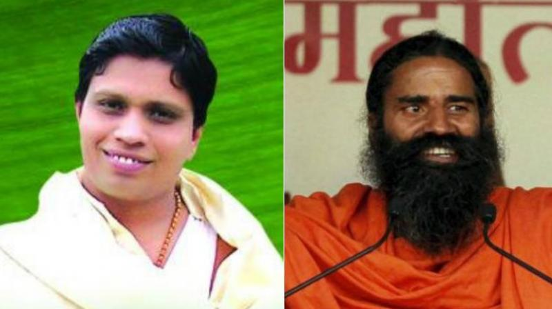 Acharya Balkrishna (Left) and Baba Ramdev (Right).