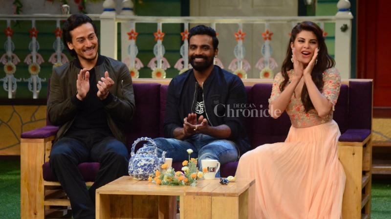 Remo, Tiger and Jacqueline promote 'A Flying Jatt' in The Kapil Sharma Show.