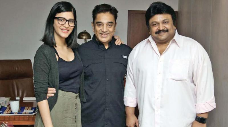 Shruti, Kamal Haasan and Prabhu
