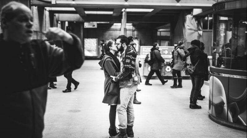 Photographer Mikael Theimer believes that PDAs or public displays of affection are beautiful and pure. His ongoing photo project, 'Street Love', features unsuspecting couples getting up close and personal at different public places.