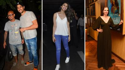 While Sidharth Malhotra caught up with a friend, Parineeti Chopra was spotted at the Mumbai airport on Friday night. On the other hand, Kalki Koechlin, who is busy promoting her next film 'Waiting' was spotted at the films' screening. Photo: Viral Bhayani