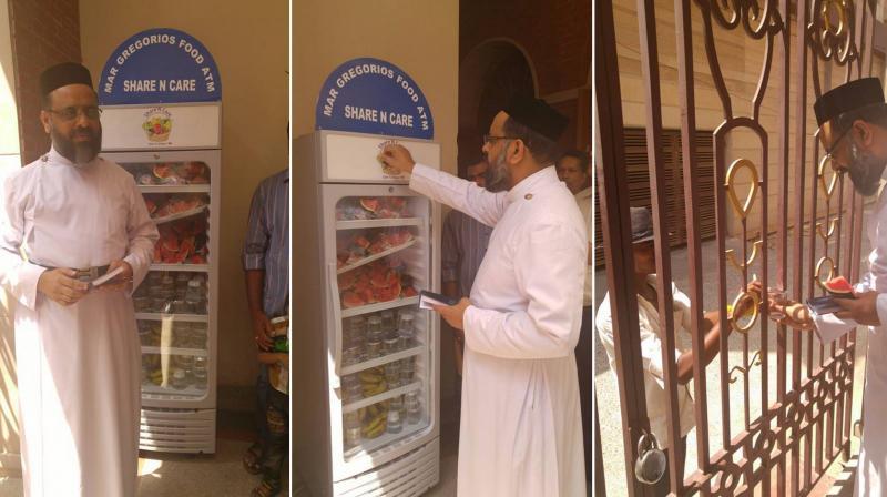 Церковь в Дели устанавливает пищевой автомат для бедных и бездомных