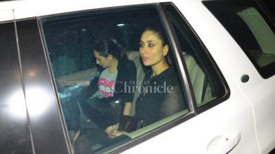 Kareena Kapoor Khan and Karisma Kapoor spotted outside Sanjay Kapoor's residence.