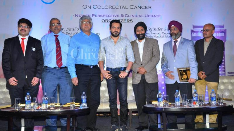Emraan Hashmi at the press conference on colorectal cancer.