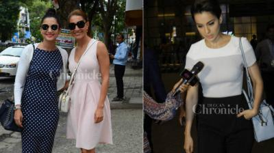 Bond girl Caterina Murino promotes Fever in Mumbai, Kangana spotted at the airport.