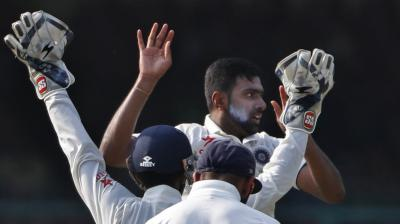 India spinners Ravichandran Ashwin and Ravindra Jadeja have looked dangerous on a turning pitch, in Kanpur. (Photo: AP)