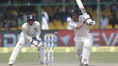 Ronchi, who showed great concentration, played a loose shot, to give away his wicket. (Photo: AP)