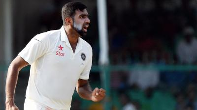 Ashwin picks up his fourth wicket of the innings. (Photo: PTI)