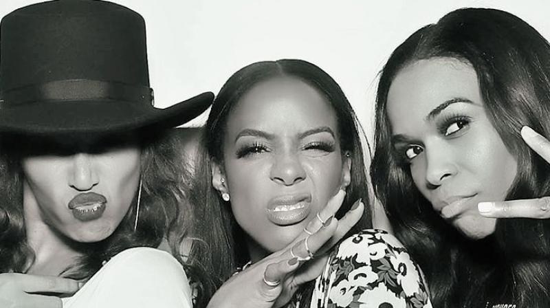 Destiny's Child reunite for Kelly Rowland's 35th birthday party