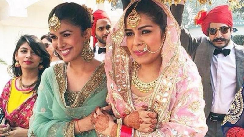 Nimrat Kaur plays perfect bridesmaid for sister's wedding