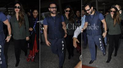 After spending almost a month in London, Saif Ali Khan and Kareena Kapoor Khan returned back to Mumbai on Tuesday (May 31). (Photo: Viral Bhayani)