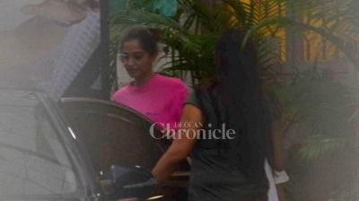 Sonam Kapoor spotted at the dubbing studio on Thursday evening in Mumbai.