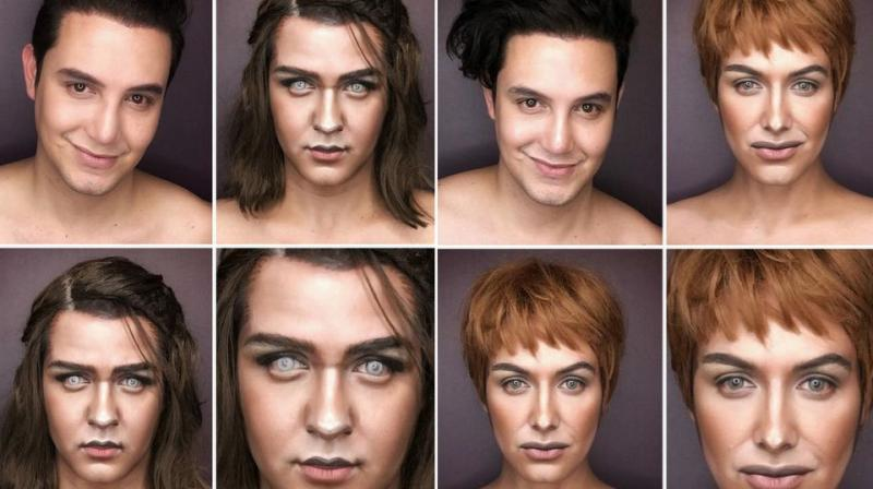 Filipino Artist, Paolo Ballesteros transforms himself into the female characters of Game Of Thrones, the most most highly rated television series. He successfully transforms himself into Brienne of Tarth, Melisandre, Margaery Tyrell, Daenerys Targaryen, Arya and Sansa Stark  (Photo: Instagram/Pochoy_29)