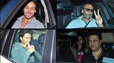 Tiger Shroff was joined by his family and calose friends from the industry at the first special screening of his action flick Baaghi. Photo: Viral Bhayani