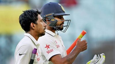 Onus will be on Ravindra Jadeja and Wriddhiman Saha as India look to put up a respectable total on board in the second Test against New Zealand on day 2. (Photo: PTI)