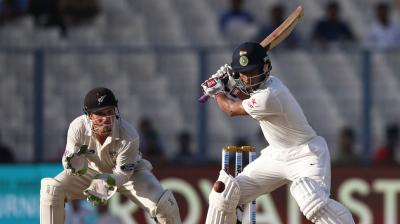 Following Ravindra Jadeja's dismissal on day two, onus will be on Wriddhiman Saha as India look to put up a respectable total on board in the second Test against New Zealand. (Photo: AP)