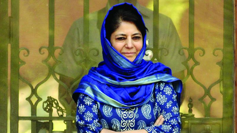 Mufti's statement followed an announcement made by a Home Ministry spokesman in New Delhi that an all-party delegation led by Home Minister Rajnath Singh will visit J&K on September 4. (Photo: File)