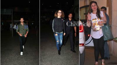Kareena Kapoor Khan, Kangana Ranaut, Sushant Singh Rajput and several other Bollywood stars were snapped at various places in Mumbai on Wednesday. (Photo: Viral Bhayani)