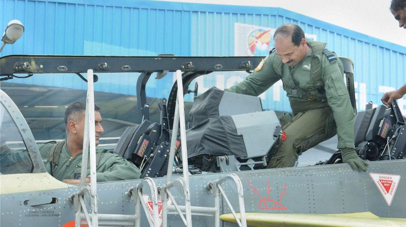 "Indian Air Force (IAF) chief Air Chief Marshal Arup Raha on Tuesday took his maiden flight in India's home grown light combat aircraft (LCA) Tejas, calling it ""good"" for induction."