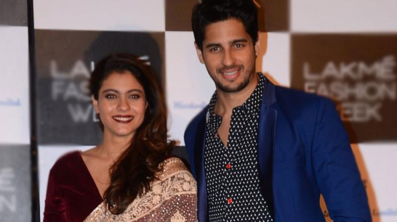 Kajol and Sidharth Malhotra attended Lakme Fashion Week  in Mumbai on Thursday evening. Photo: Viral Bhayani