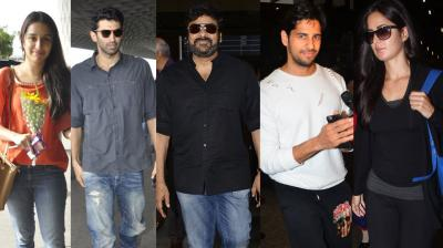 It was a star studded day at the airport as stars like Shraddha Kapoor, Aditya Roy Kapur, Chiranjeevi, Sidharth Malhotra and Katrina Kaif headed in and out of the city. Photo: Viral Bhayani