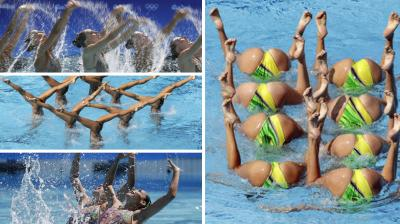 Viewers have been left confused and amazed by the incredible feats of the synchronised swimmers as they put on displays of spellbinding uniformity under and above the water.