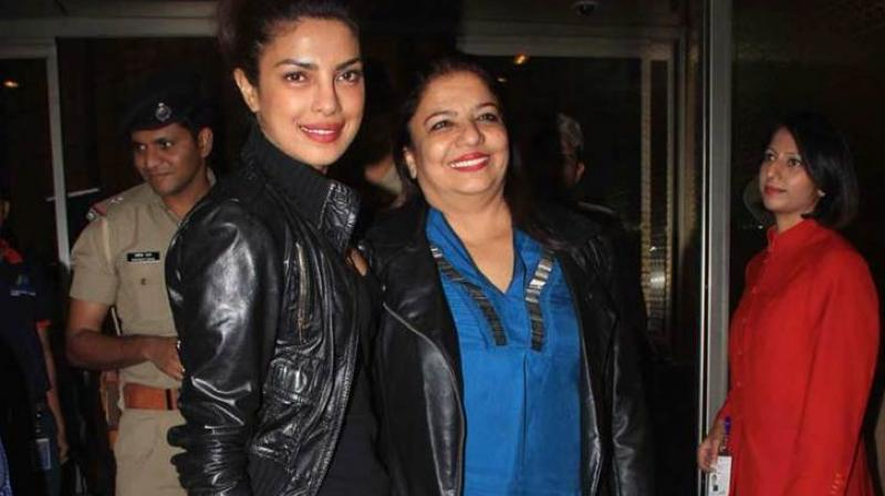 File photo of Priyanka Chopra with mother Madhu.
