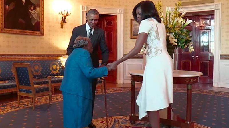 Watch this 106-year-old dance with the Obamas