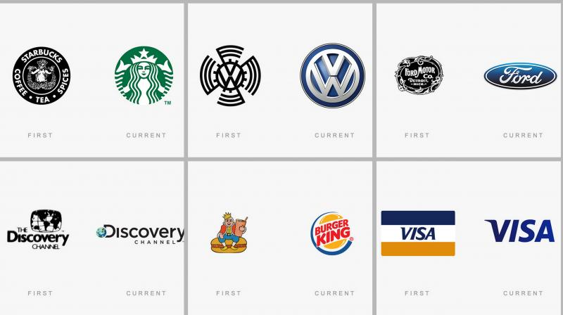 Everything changes with time, even the company's logo. Here's the list of where you'll find some of the world's most famous logos, both how they look now and how they looked in the beginning.